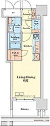 都営浅草線 泉岳寺駅 徒歩14分の賃貸マンション 5階ワンルームの間取り
