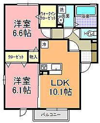 仮)D−room寄井 F[201号室]の間取り