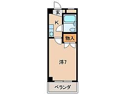 アビレス中松江[5階]の間取り
