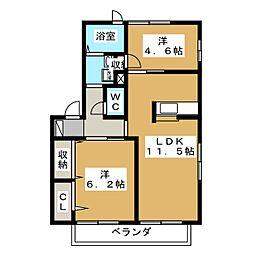 エネリスII[2階]の間取り