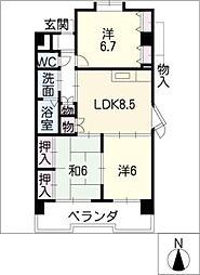 マンション・ハルカ[2階]の間取り
