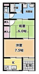 [テラスハウス] 大阪府門真市御堂町 の賃貸【/】の間取り