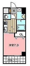 ERIOS COURT 香春口 6階1Kの間取り