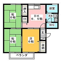 コーポシャトル[1階]の間取り