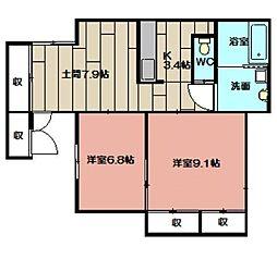 第三永伸アパート[102号室]の間取り