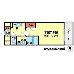 WGB江坂[7階]の間取り