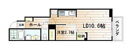 アライブ・マツバラII[1階]の間取り