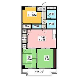 リバブルヤトミ[3階]の間取り