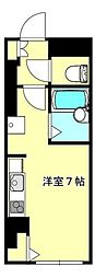 JR東北本線 仙台駅 徒歩9分の賃貸マンション 4階ワンルームの間取り