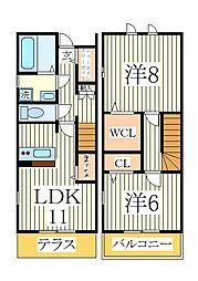 GRANDIR KASHIWATANAKA E棟[1階]の間取り