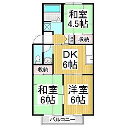 ハイツ61[1階]の間取り