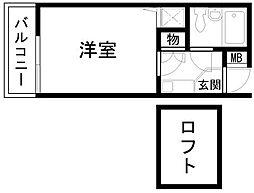 シャルマンフジ久米田五番館[405号室]の間取り
