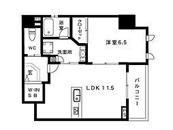 LAFFICE住吉本町[3階]の間取り
