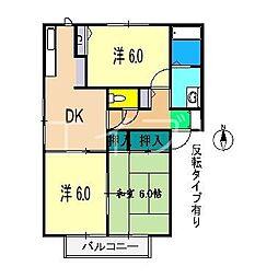 ハイツ大柳 C棟[1階]の間取り