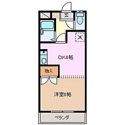 ファームKENZO[3階]の間取り