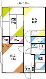 第2ヨシタケビル[205号室]の間取り