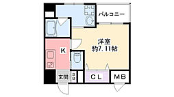 Grandi西宮甲子園ParkV[6階]の間取り