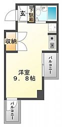 東明マンション江坂[6階]の間取り