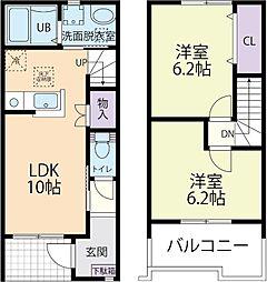 SUNNY RESIDENCE(サニーレジデンス) A 2階2LDKの間取り