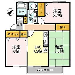大阪府高石市取石1の賃貸アパートの間取り