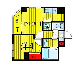 Terrace東浅草[601号室]の間取り