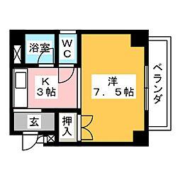トータスマンション[3階]の間取り