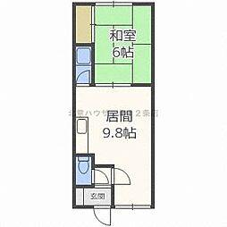 北海道札幌市北区北二十四条西16丁目の賃貸アパートの間取り