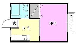 YAMAMOTOハイツII[B-7 号室号室]の間取り