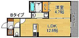 シャーメゾン塚西[2階]の間取り