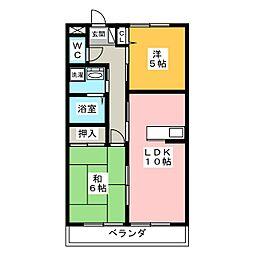 カーサドルチェ[3階]の間取り