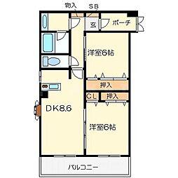 ル・シェル[4階]の間取り