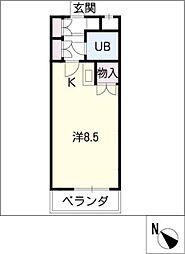 シャトルミエ[2階]の間取り