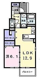 バルバロッサ2[1階]の間取り