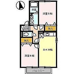 コンフォート C[2階]の間取り