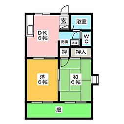 ラディーユ前島II[2階]の間取り
