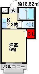 プレアール幸神東 B棟[3階]の間取り