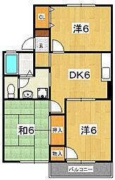 コーポ桜井B[203号室号室]の間取り