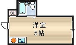 昭和グランドハイツ恵美須[2階]の間取り