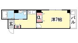 兼山マンション[502号室]の間取り