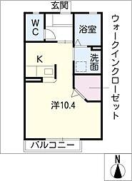 プランドール野中C棟[1階]の間取り