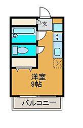 東京都町田市鶴川2丁目の賃貸マンションの間取り