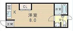 [テラスハウス] 大阪府大阪市淀川区新高2丁目 の賃貸【/】の間取り