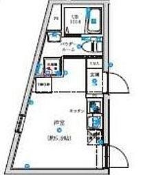 東京都杉並区和泉4丁目の賃貸マンションの間取り