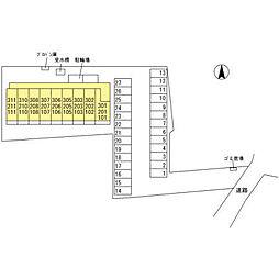 (仮)オッツ内ケ島[101号室]の外観