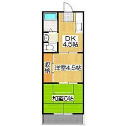 マンション中川[307号室]の間取り