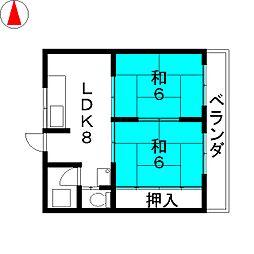 ラッフル徳川[4階]の間取り