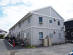埼玉県草加市長栄3丁目の賃貸アパートの外観