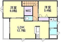 アンソレイユII A棟[2階]の間取り