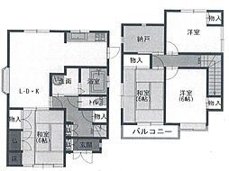 [一戸建] 兵庫県姫路市白国1丁目 の賃貸【/】の間取り