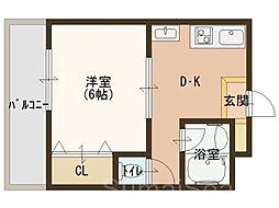 昌和鳳[2階]の間取り